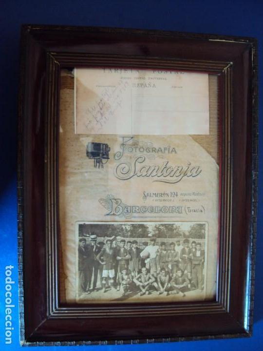 (F-190600)POSTAL FOTOGRAFICA ENMARCADA DEL F.C.BARCELONA FOOT-BALL AÑO 1918 - CATEGORIAS INFERIORES (Coleccionismo Deportivo - Postales de Deportes - Fútbol)