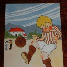 Coleccionismo deportivo: POSTAL COMICA DE FUTBOL, SOCCER. EDICIONES VICTORIA. BARCELONA. N. 1146, NO CIRCULADA.. Lote 166978692