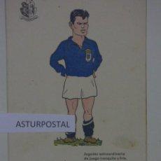 Coleccionismo deportivo: POSTAL CARICATURA DEL OVIEDO , AGUSTIN. Lote 167554088