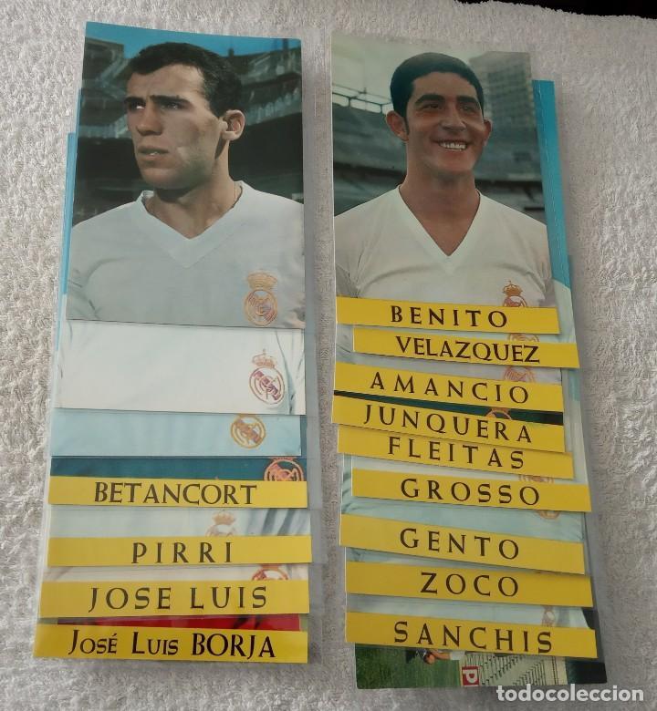 -LOTE DE 17 POSTALES FUTBOL DEL REAL MADRID AÑOS 69-70 SIN ESCRIBIR COMO NUEVAS (Coleccionismo Deportivo - Postales de Deportes - Fútbol)