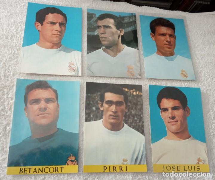 Coleccionismo deportivo: -LOTE DE 17 POSTALES FUTBOL DEL REAL MADRID AÑOS 69-70 SIN ESCRIBIR COMO NUEVAS - Foto 3 - 168004536