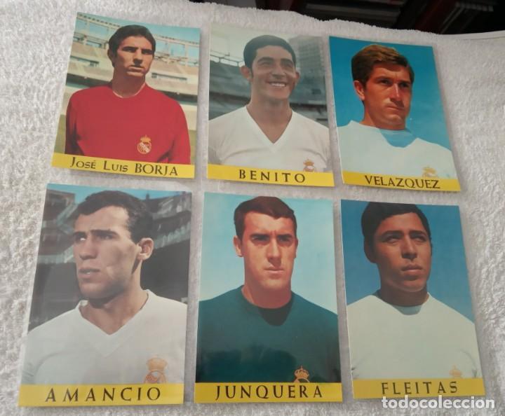Coleccionismo deportivo: -LOTE DE 17 POSTALES FUTBOL DEL REAL MADRID AÑOS 69-70 SIN ESCRIBIR COMO NUEVAS - Foto 4 - 168004536