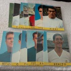 Coleccionismo deportivo: -LOTE DE 14 POSTALES FUTBOL DEL REAL MADRID AÑOS 69-70 SIN ESCRIBIR COMO NUEVAS. Lote 168004644