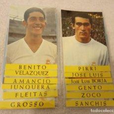 Coleccionismo deportivo: -LOTE DE 12 POSTALES FUTBOL DEL REAL MADRID AÑOS 69-70 SIN ESCRIBIR COMO NUEVAS. Lote 168004936