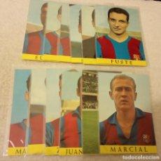 Coleccionismo deportivo: -LOTE DE 12 POSTALES FUTBOL DEL BARCELONA AÑOS 69-70 SIN ESCRIBIR COMO NUEVAS. Lote 168005296