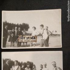 Coleccionismo deportivo: DOS ANTIGUAS FOTOGRAFÍAS POSTALES DE FÚTBOL. Lote 168157425