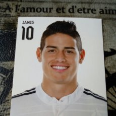 Coleccionismo deportivo: POSTAL OFICIAL JAMES REAL MADRID 15X10. Lote 168276310