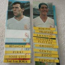 Coleccionismo deportivo: -LOTE DE 17 POSTALES FUTBOL DEL REAL MADRID AÑOS 69-70 SIN ESCRIBIR COMO NUEVAS. Lote 168761380