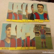 Coleccionismo deportivo: -LOTE DE 13 POSTALES FUTBOL DEL BARCELONA AÑOS 69-70 SIN ESCRIBIR COMO NUEVAS. Lote 168761404