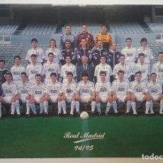 Coleccionismo deportivo: REAL MADRID FÚTBOL POSTAL EQUIPO PLANTILLA TEMP. 1994 - 1995. Lote 169046832
