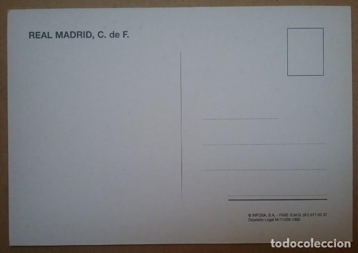 Coleccionismo deportivo: REAL MADRID FÚTBOL POSTAL EQUIPO PLANTILLA TEMP. 1994 - 1995 - Foto 2 - 169046832