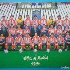 Coleccionismo deportivo: ATLÉTICO DE MADRID FÚTBOL POSTAL EQUIPO PLANTILLA TEMP. 1995- 1996. Lote 169047160