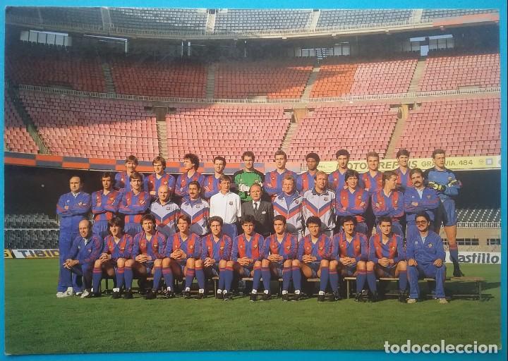 BARÇA F.C. BARCELONA FÚTBOL POSTAL EQUIPO PLANTILLA TEMP. 1989 (Coleccionismo Deportivo - Postales de Deportes - Fútbol)