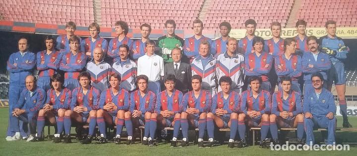 Coleccionismo deportivo: BARÇA F.C. BARCELONA FÚTBOL POSTAL EQUIPO PLANTILLA TEMP. 1989 - Foto 2 - 169047444