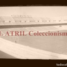 Coleccionismo deportivo: MADRID - ESTADIO FUTBOL CHAMARTIN - CLICHE EN CRISTAL - EDICIONES ARRIBAS - AÑOS 1950. Lote 169550356