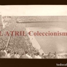 Coleccionismo deportivo: MADRID - ESTADIO FUTBOL CHAMARTIN - CLICHE EN CRISTAL - EDICIONES ARRIBAS - AÑOS 1950. Lote 169551120