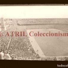 Coleccionismo deportivo: MADRID - ESTADIO FUTBOL CHAMARTIN - CLICHE EN CRISTAL - EDICIONES ARRIBAS - AÑOS 1950. Lote 169551252