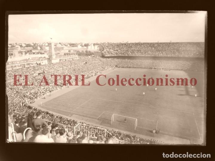 MADRID - ESTADIO FUTBOL CHAMARTIN - CLICHE EN CRISTAL - EDICIONES ARRIBAS - AÑOS 1950 (Coleccionismo Deportivo - Postales de Deportes - Fútbol)