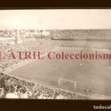 Coleccionismo deportivo: MADRID - ESTADIO FUTBOL CHAMARTIN - CLICHE EN CRISTAL - EDICIONES ARRIBAS - AÑOS 1950. Lote 169552764