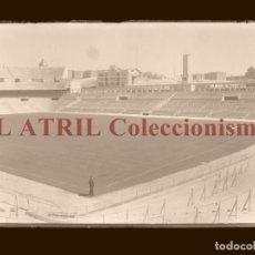 Coleccionismo deportivo: MADRID - ESTADIO FUTBOL CHAMARTIN - CLICHE EN CRISTAL - EDICIONES ARRIBAS - AÑOS 1950. Lote 169553068
