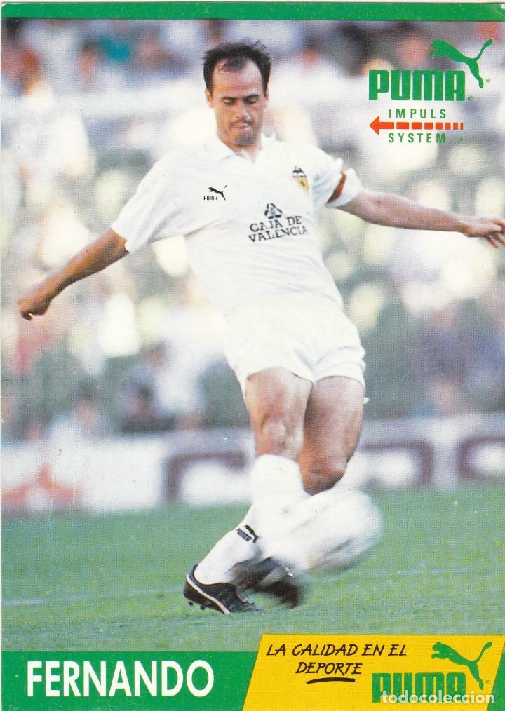 POSTAL PUMA.FERNANDO.VALENCIA CF (Coleccionismo Deportivo - Postales de Deportes - Fútbol)