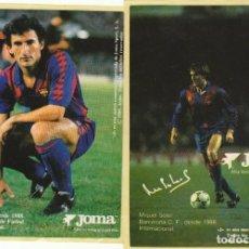 Coleccionismo deportivo: LOTE DOS PEGATINAS.FC BARCELONA.BEGUIRISTAIN Y SOLER.JOMA.. Lote 169878520