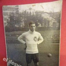 Coleccionismo deportivo: RICARDO ZAMORA. RCD ESPAÑOL. ANTIGUA POSTAL FOTOGRÁFICA. ALGUNA MANCHA DEL TIEMPO. Lote 170199000