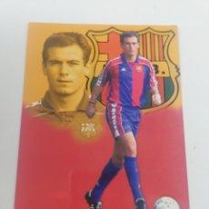 Collectionnisme sportif: POSTAL XABIER ESKURZA JUGADOR FC BARCELONA BARÇA TEMPORADA 1994-1995 94-95 FUTBOL 17X12 CM. Lote 171516918