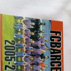 Collectionnisme sportif: POSTAL FUTBOL CLUB BARCELONA 2005-2006 SIN CIRCULAR / RONALDINHO ,XAVI,PUJOL ,DECO. Lote 171673043