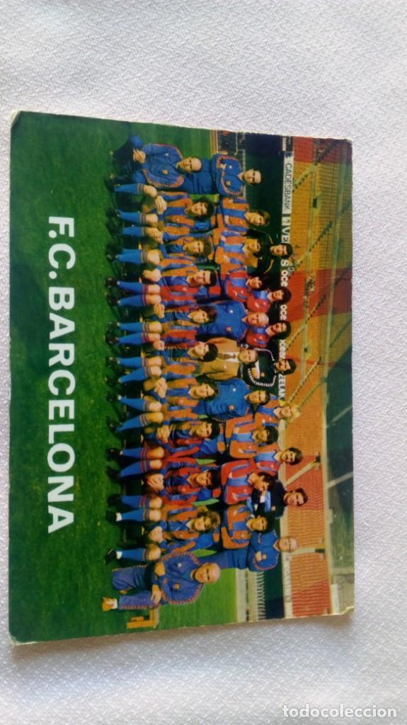 FCBARCELONA /MIGUELI,CARRASCO QUINI ,SIMONSEN (Coleccionismo Deportivo - Postales de Deportes - Fútbol)