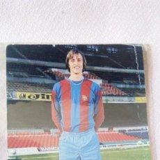 Coleccionismo deportivo: POSTAL DE JOHAN CRUYFF FIRMADA FUTBOL CLUB BARCELONA. Lote 171726787