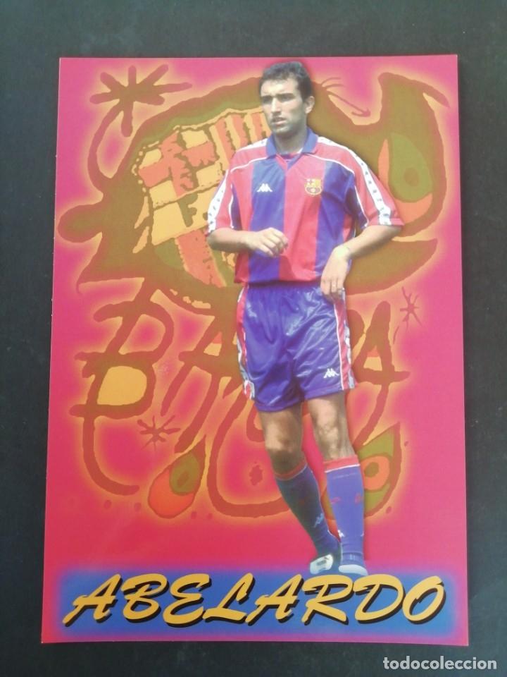 ABELARDO. F. C. BARCELONA. (Coleccionismo Deportivo - Postales de Deportes - Fútbol)