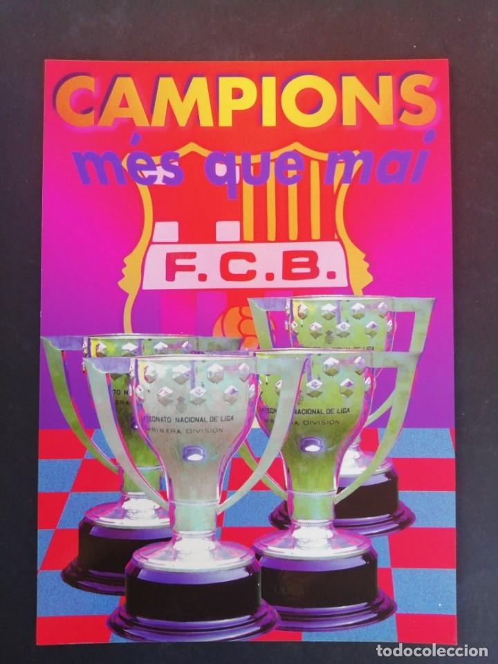 CAMPIONS, MÉS QUE MAI. F. C. BARCELONA. (Coleccionismo Deportivo - Postales de Deportes - Fútbol)