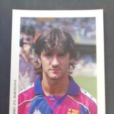Coleccionismo deportivo: BAKERO. F. C. BARCELONA. . Lote 172243418