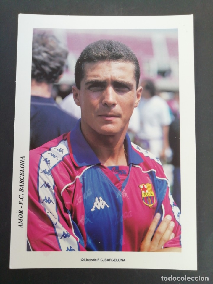 AMOR. F. C. BARCELONA. (Coleccionismo Deportivo - Postales de Deportes - Fútbol)