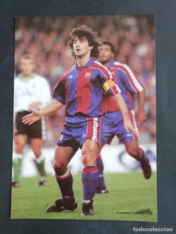 JOSÉ MARI BAKERO. F. C. BARCELONA (Coleccionismo Deportivo - Postales de Deportes - Fútbol)