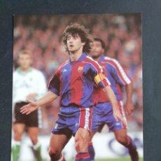 Coleccionismo deportivo: JOSÉ MARI BAKERO. F. C. BARCELONA. Lote 172294210