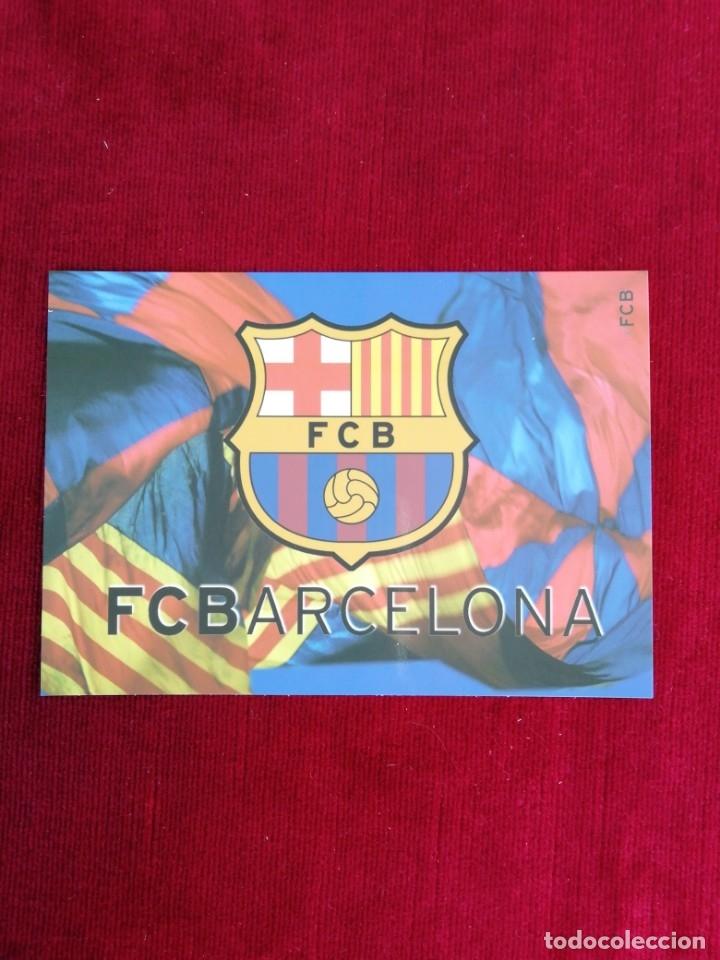 POSTAL ESCUDO F. C. BARCELONA. (Coleccionismo Deportivo - Postales de Deportes - Fútbol)