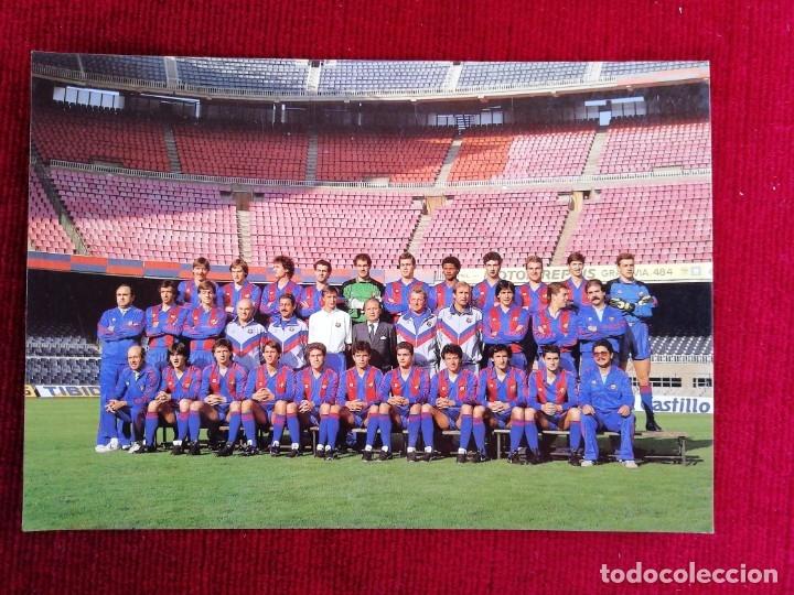 POSTAL F. C. BARCELONA PLANTILLA AÑO 1989 (Coleccionismo Deportivo - Postales de Deportes - Fútbol)