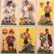 Coleccionismo deportivo: LOTE 6 POSTALES ANTIGUAS EQUIPOS FUTBOL PRIMERA DIVISION. Lote 172648634