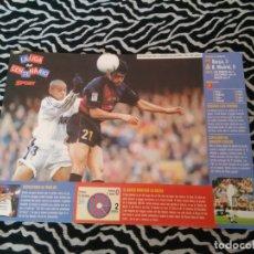 Coleccionismo deportivo: LUIS ENRIQUE: LÁMINA POSTAL BARCELONA 1998-1999 SPORT BARÇA LIGA CENTENARIO 98-99, MIDE 29.6 X 21 CM. Lote 172821444