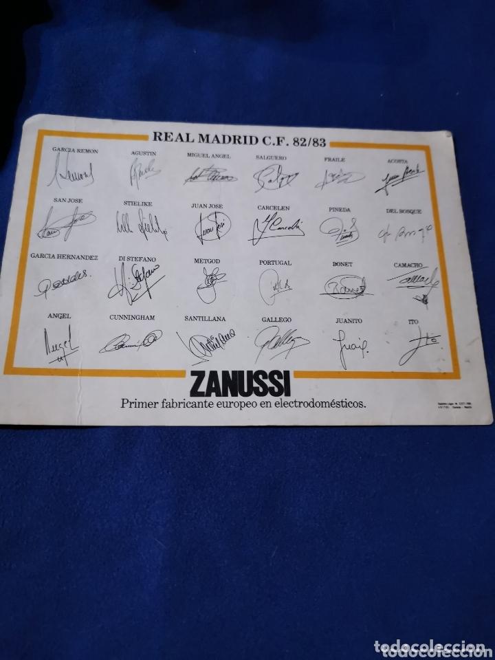 Coleccionismo deportivo: Rara tarjeta de la plantilla del Real Madrid, 82-83 - Foto 2 - 172861732