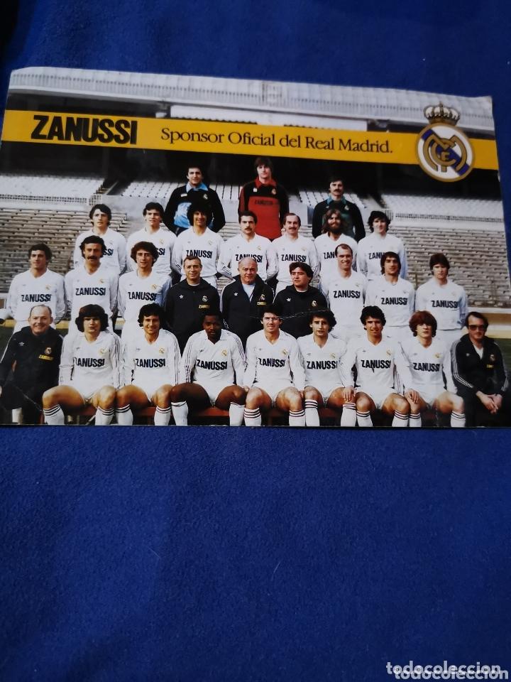 RARA TARJETA DE LA PLANTILLA DEL REAL MADRID, 82-83 (Coleccionismo Deportivo - Postales de Deportes - Fútbol)