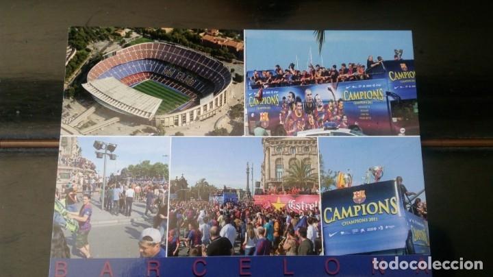 FCB CAMPIONS (Coleccionismo Deportivo - Postales de Deportes - Fútbol)
