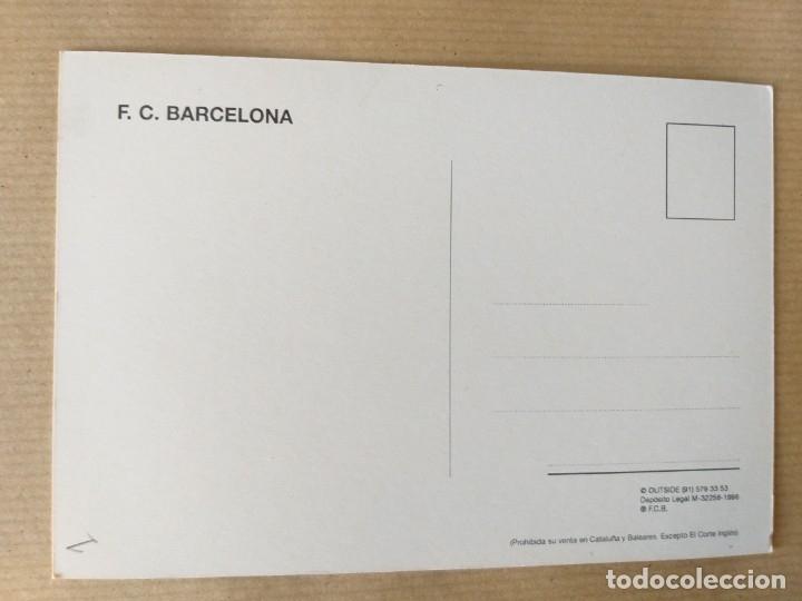 Coleccionismo deportivo: POSTAL DE FÚTBOL. ESCUDO DEL F. C. BARCELONA - Foto 2 - 174289884
