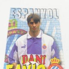 Coleccionismo deportivo: POSTAL FAVIO JUGADOR RCD ESPAÑOL RCE ESPANYOL TEMPORADA 1996-1997 96-97 FUTBOL.. Lote 175450654