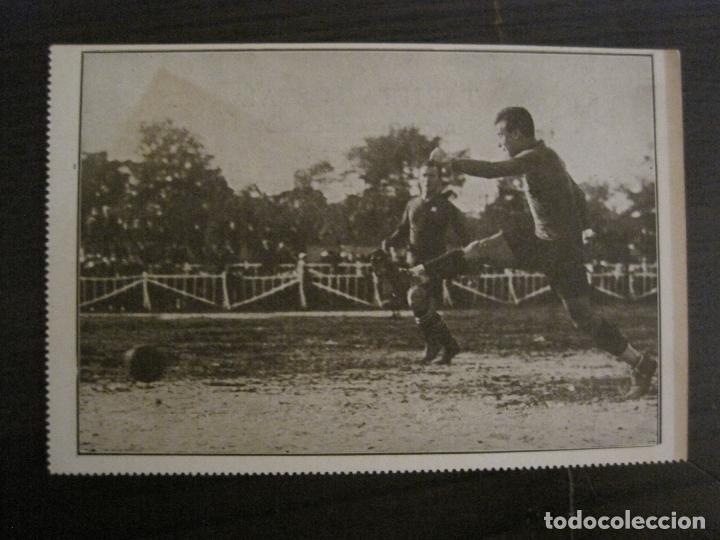 SHOOT DE SAMITIER-FC BARCELONA-ASES DEL FUTBOL-POSTAL FUTBOL-LA PELOTA SEMANAL-VER FOTOS-(62.175) (Coleccionismo Deportivo - Postales de Deportes - Fútbol)