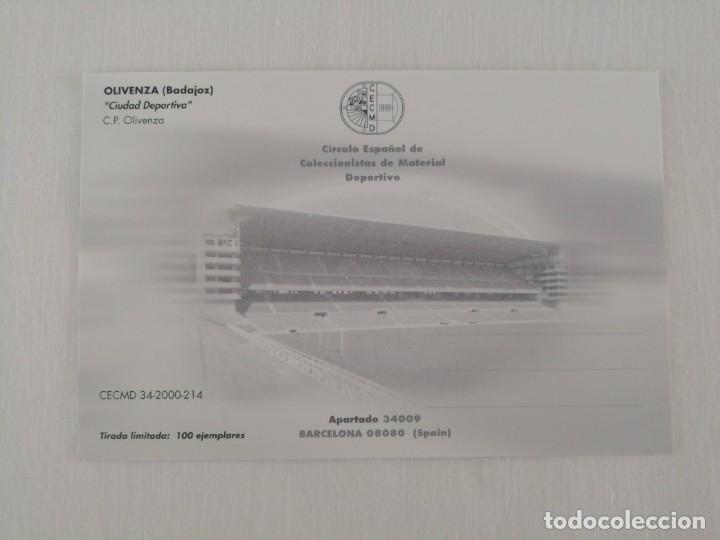 Coleccionismo deportivo: Ciudad Deportiva. Olivenza. Badajoz - Foto 2 - 176725068