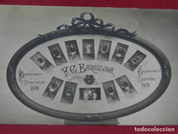 Coleccionismo deportivo: (M) Postal FC Barcelona Campeonato de Pirineos 1912 - Campeonato de España 1912, Joan Gamper - Foto 2 - 176922925