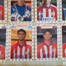 Coleccionismo deportivo: 25 POSTALES JUGADORES ATLETICO DE MADRID 1995 1996 DOBLETE . Lote 177390709